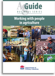 Working with people in agriculture AgGuide publication bookcover image