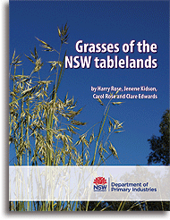 Grasses of the NSW tablelands book cover