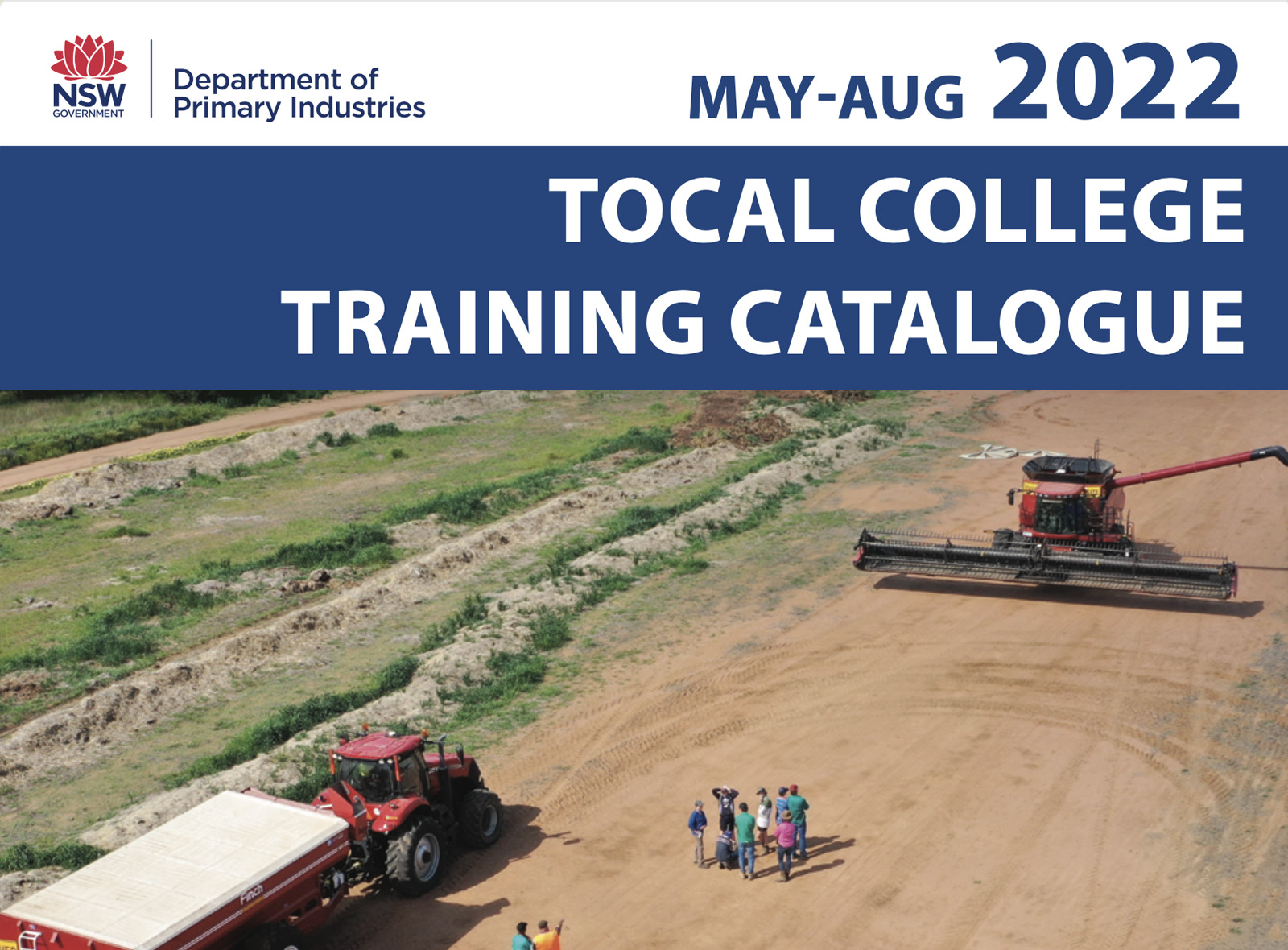 Front cover of skills training catalogue