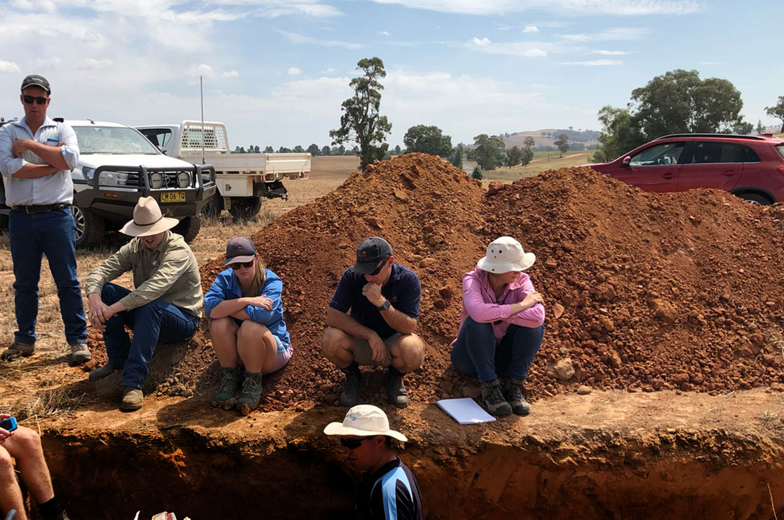 Soil class at soil pit