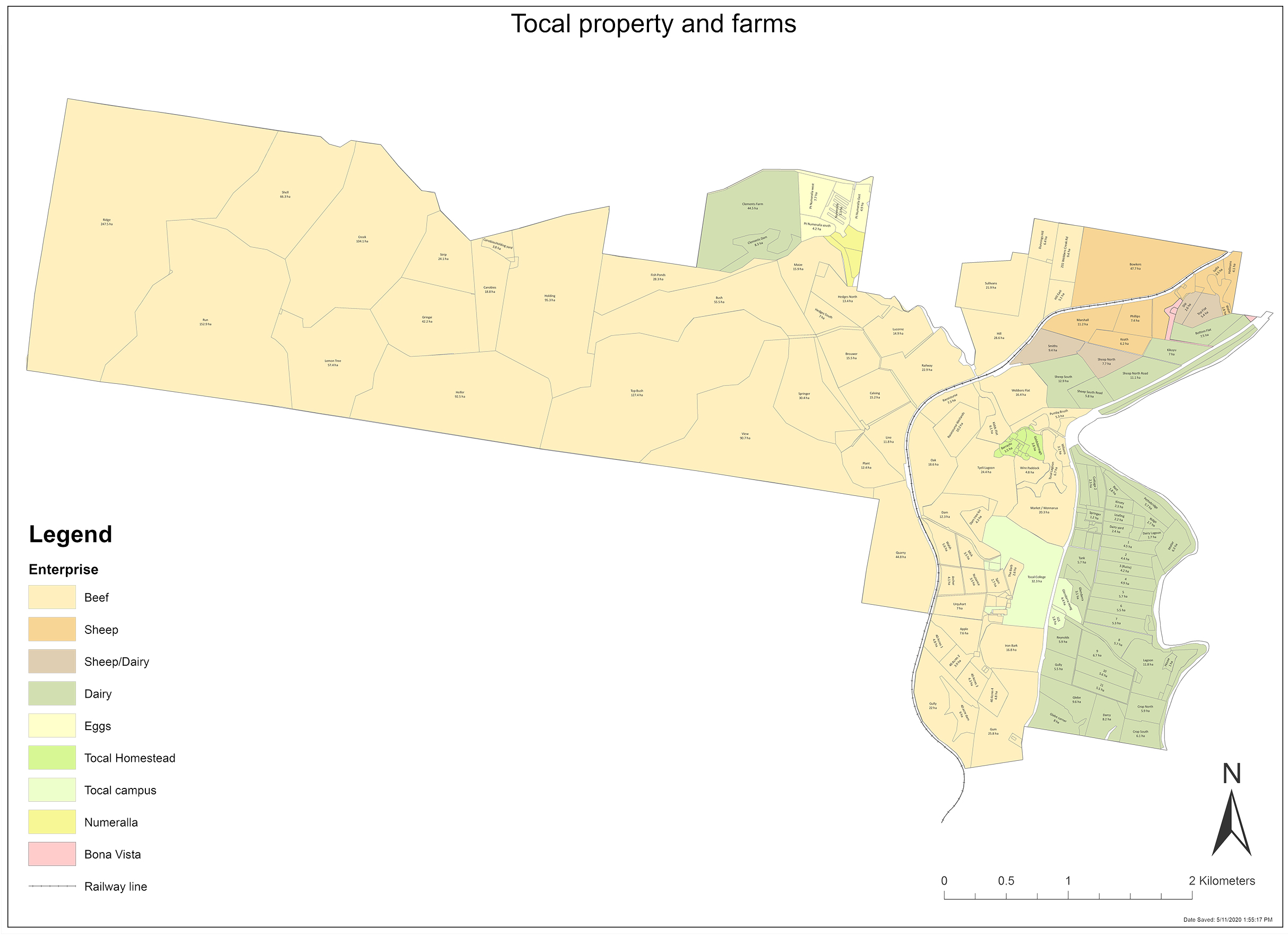 Tocal Property map 2021