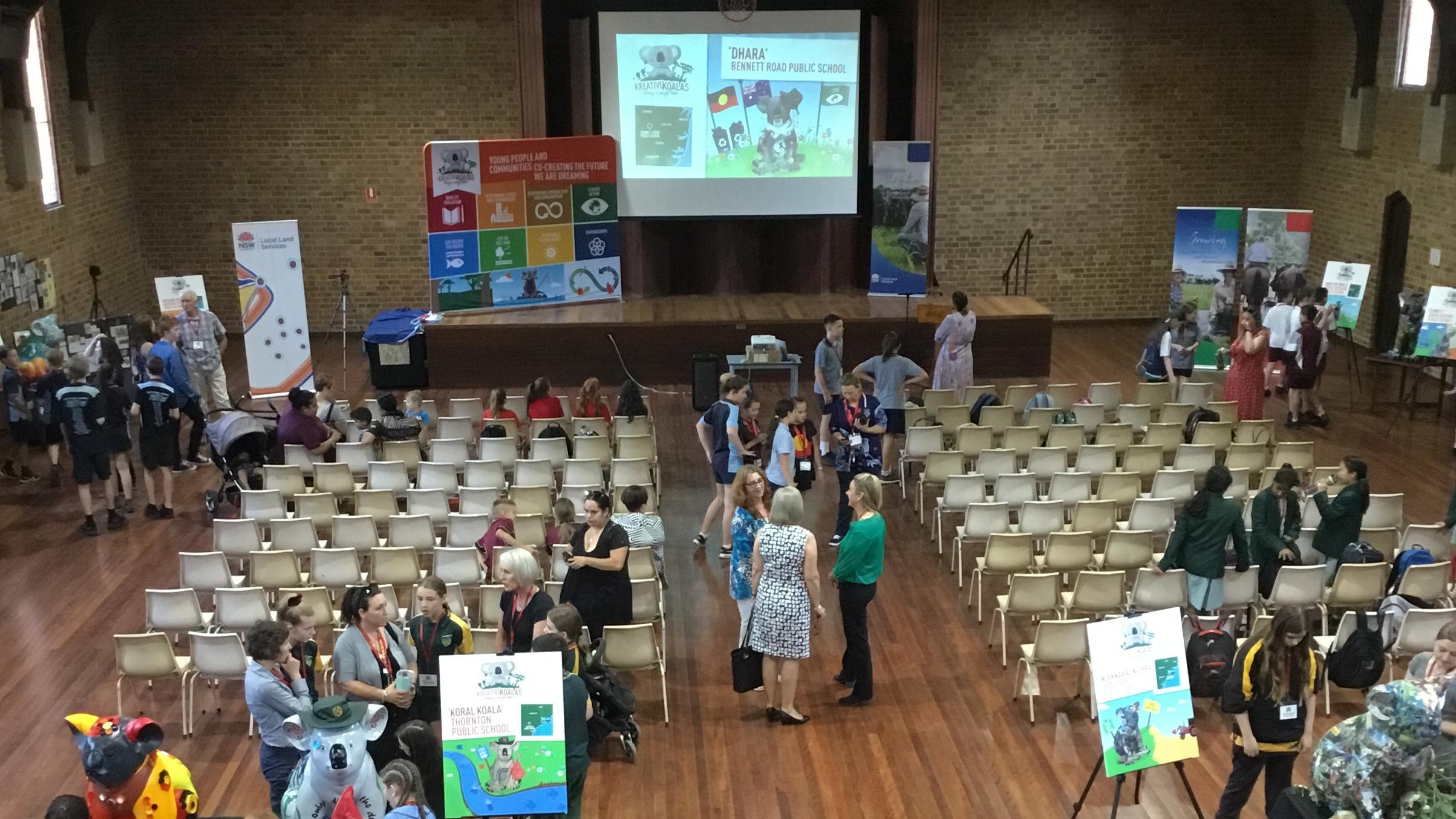 Hall set up for Kreative Koalas event