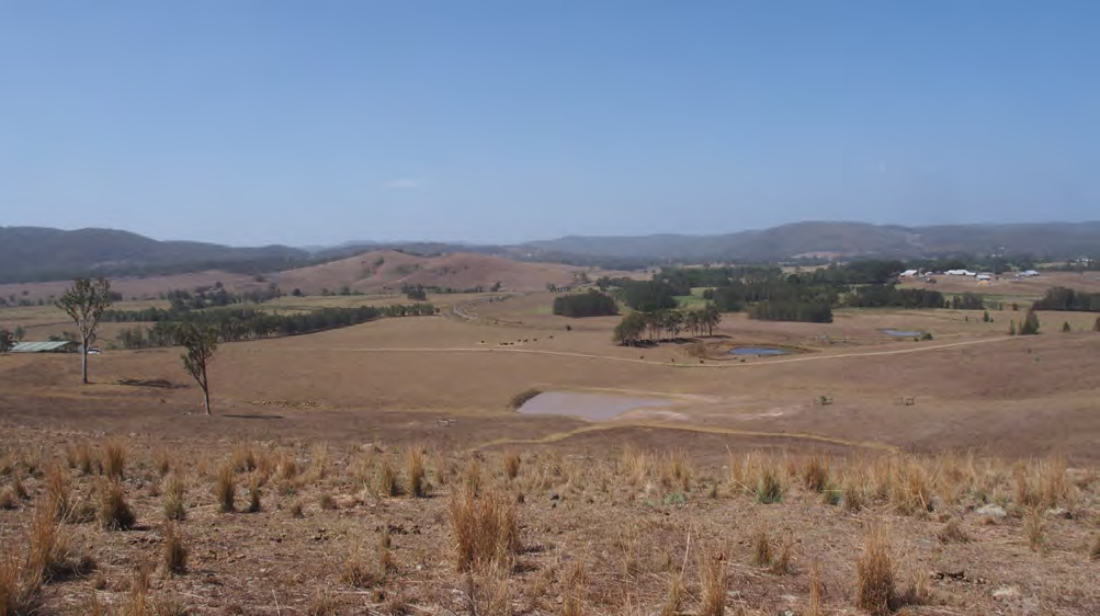 Tocal property with nearly empty dams and brown paddocks
