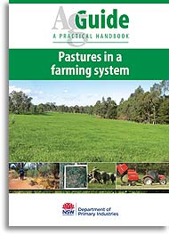Pastures in a farming system